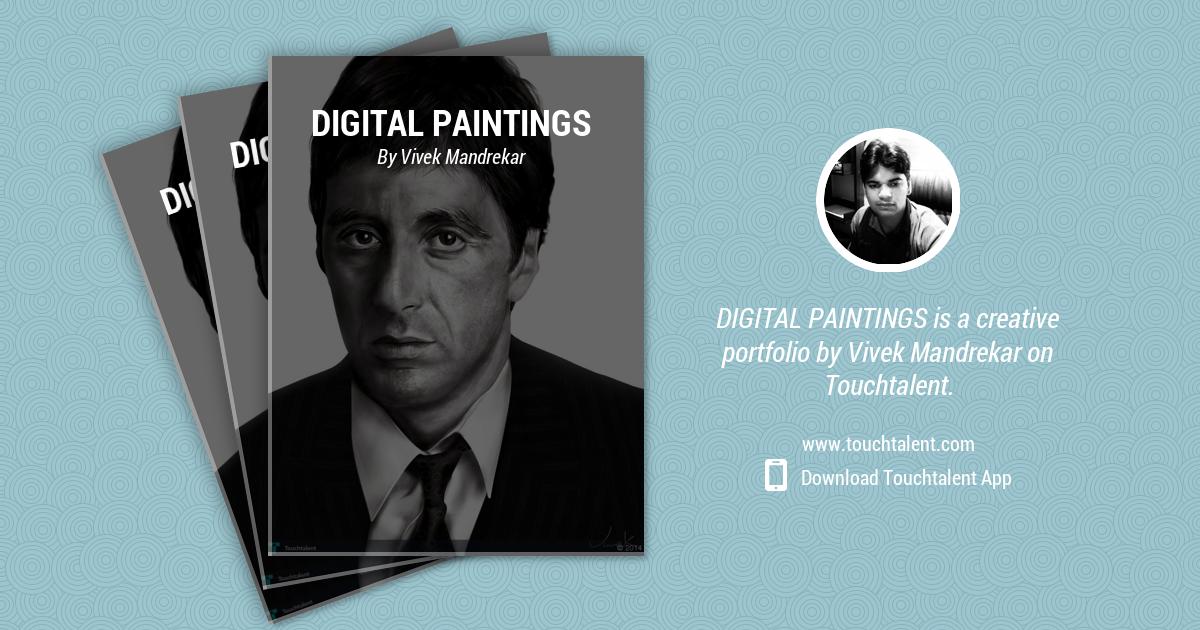 AL PACINO Digital Portrait Painting by Vivek Mandrekar