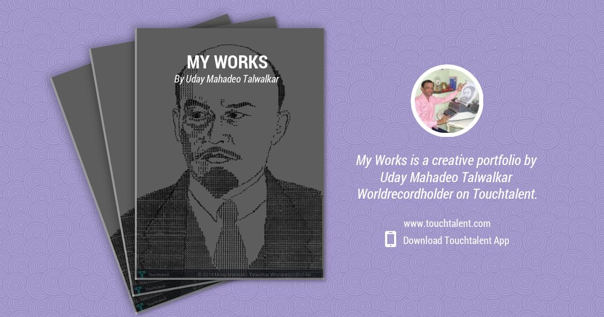 Unique Typewriter Portrait by Uday Mahadeo Talwalkar Worldrecordholder
